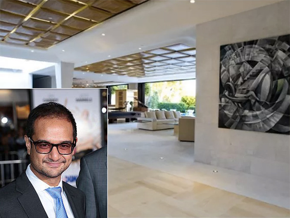 Riza Aziz and the Beverly Hills pad