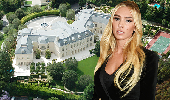 Petra Ecclestone Stunt and the mansion (Credit: Wikipedia Commons, Getty)