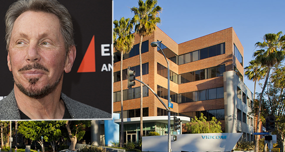 The property at 2700 Colorado Boulevard (2700Colorado.com) and Oracle chairman and founder Larry Ellison (Getty)