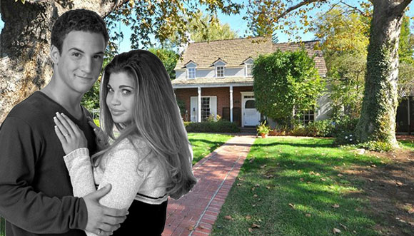 Cory and Topanga from Boy Meets World, and the house at 4196 Colfax Avenue (Credit: ABC, Crisnet)