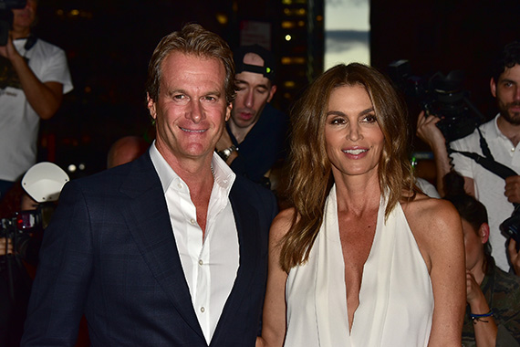 Rande Gerber and Cindy Crawford, September 2016.