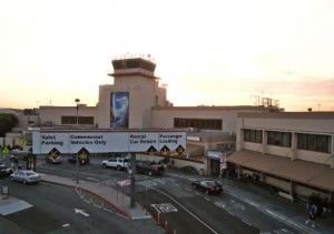 Bop Hope Airport terminal in Burbank.