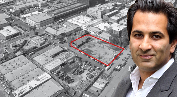The violet street lot and Philip Rahimzadeh, who heads Core Development Group