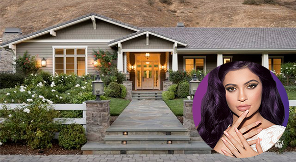 Kylie Jenner and her home at 5206 Scott Robertson Road (Credit: Sinful Colors, Pinnacle Real Estate Properties)