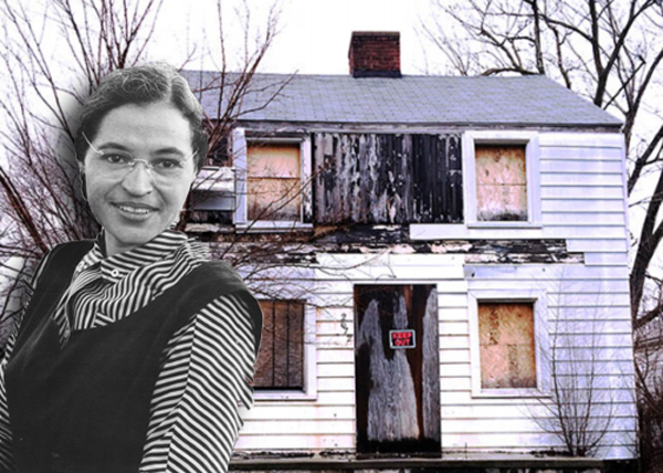 Rosa Park and her Detroit house via Wikipedia
