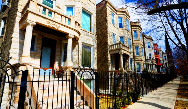A Row Of Greystone Apartment Buildings In Humboldt Park Credit Istock