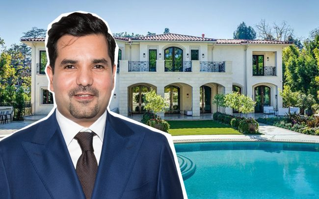 Meshal Hamad Al Thani, the ambassador of the State of Qatar to the U.S. and 1006 Laurel Way (Credit: Getty Images and Zillow)