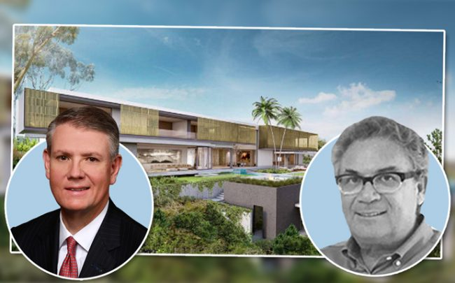 Comerica CEO Curtis Farmer, Robert Shapiro, and a spec home Woodbridge supposedly planned at an investment property in LA