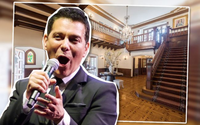 Michael Feinstein and a main room in the Los Feliz mansion