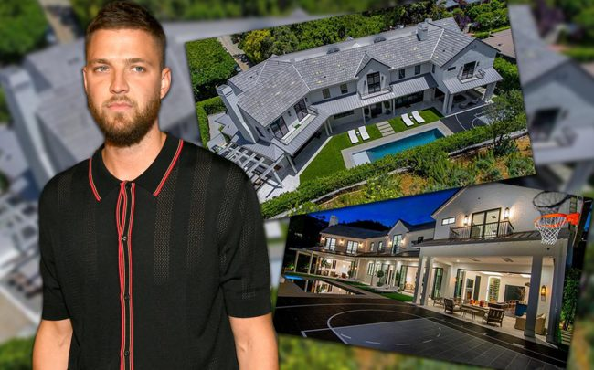 Chandler Parsons and his property on Stone Canyon Road (Credit: Getty Images)
