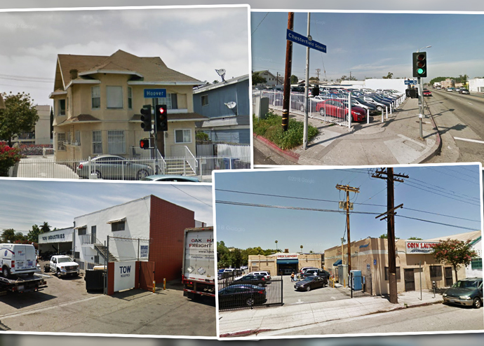 Four of the top five top biggest residential projects (Credit: Google Maps)