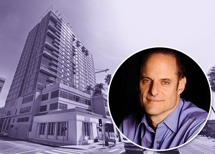 Michael Weinstein and Sunset Gordon tower (Google Maps)