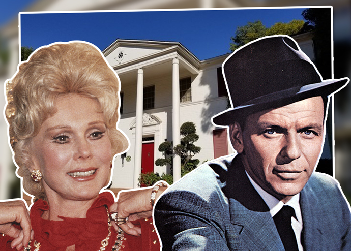 Eva Gabor and Frank Sinatra with the estate (Credit: Getty Images)