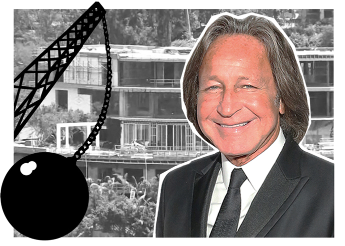 Mohamed Hadid and his Bel Air spec mansion (Credit: Getty Images and Manatt, Phelps & Phillips via Curbed)