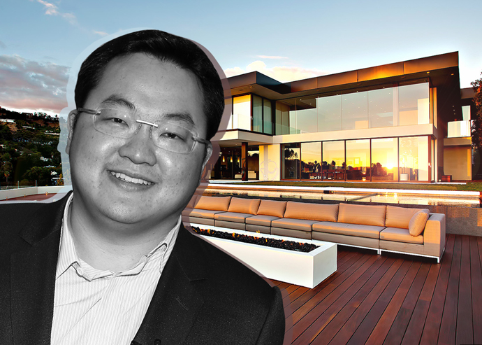 Jho Low and 1423 Oriole Drive (Credit: Getty Images and The Pinnacle List)