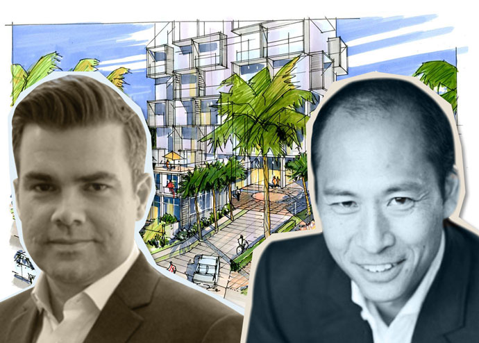 Urban Offerings Development Director Marc Cucco, Forme Development President Damon Chan