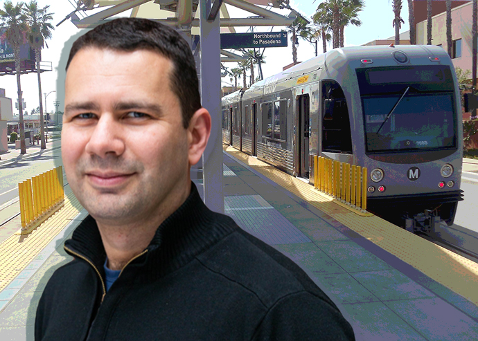 Trulia Chief Economist Issi Romem and a Metro Gold Line train at Atlantic Station