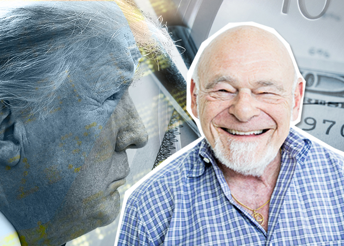 Donald Trump and Sam Zell (Credit: Getty Images)