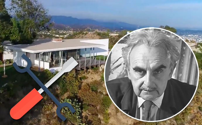 Richard Neutra's old residence at 2460 Sunset Plaza Drive