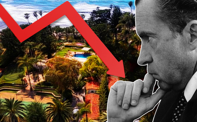 Richard Nixon and the estate (Credit: Getty Images)