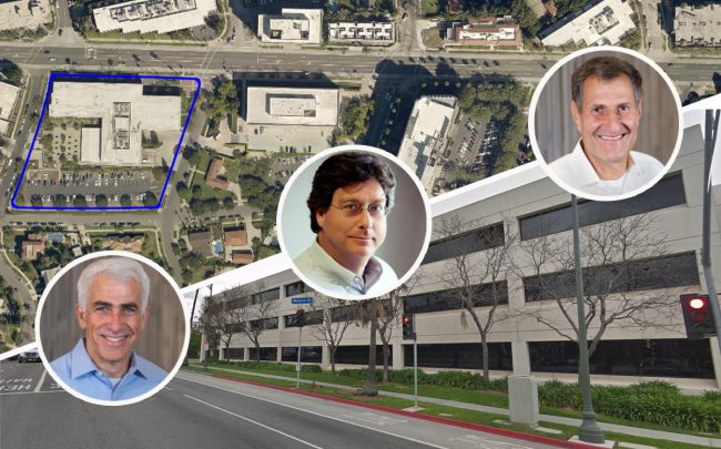 CIM Group Founders, Shaul Kuba, Richard Ressler, and Avi Shemesh and 4750 Wilshire Boulevard (Credit: Google Maps)