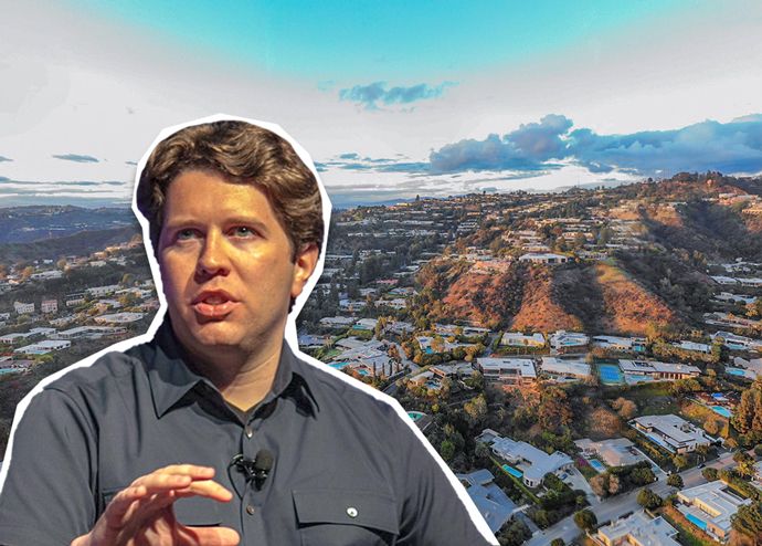 Garrett Camp, with Trousdale Estates (Credit: Flickr and Google Maps)