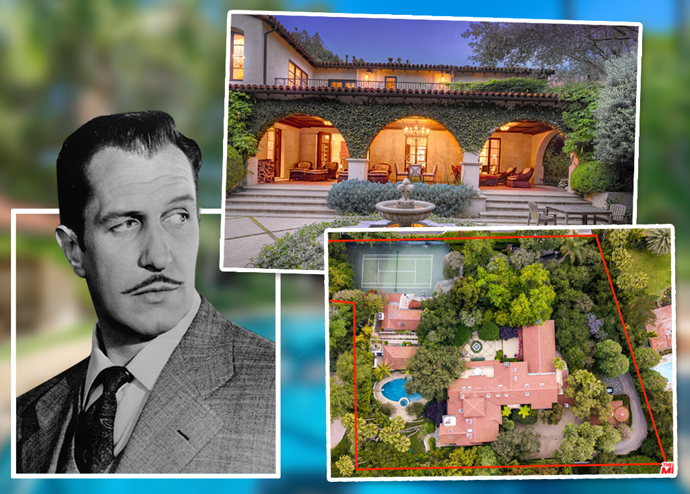 Actor Vincent Price and the mansion