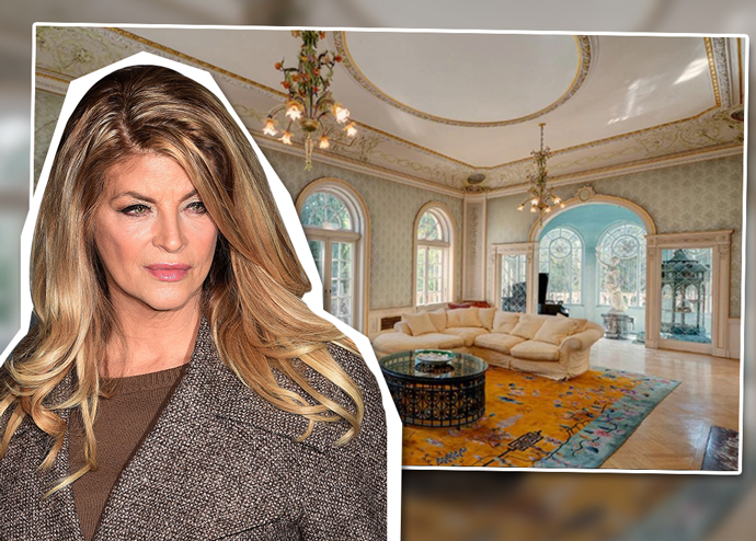 Kirstie Alley and the Los Feliz home (Credit: Getty Images)