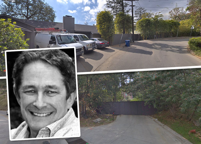 Matthew Lichtenberg and the Hollywood Hills property (Credit: Google Maps)