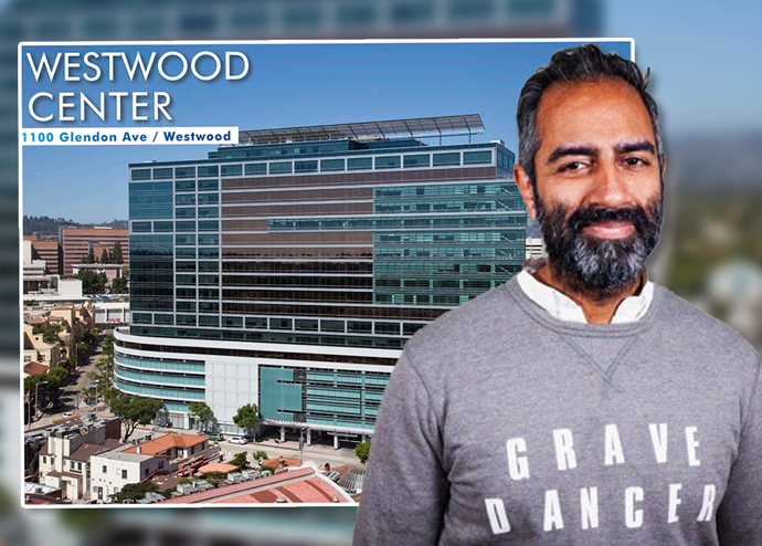 Knotel CEO Amol Sarva and one of the properties they signed a lease at