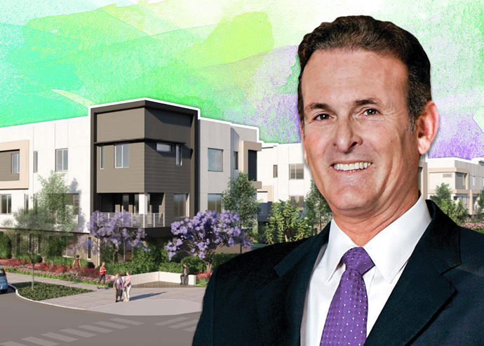 Lennar Corporation CEO Rick Beckwitt and a rendering of the project
