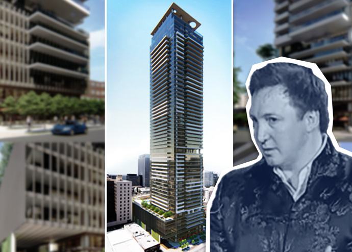 Onni Group's Rossano De Cotiis and a rendering of 1000 S. Hill Street