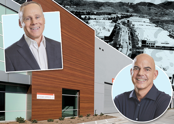 Rexford Industrial co-CEOs Howard Schwimmer and Michael S. Frankel and Rexford properties in Thousand Oaks and Industry
