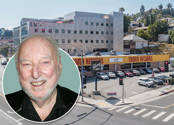 Tower Records store, and late Tower Records founder Russ Solomon (Credit: Getty Images)