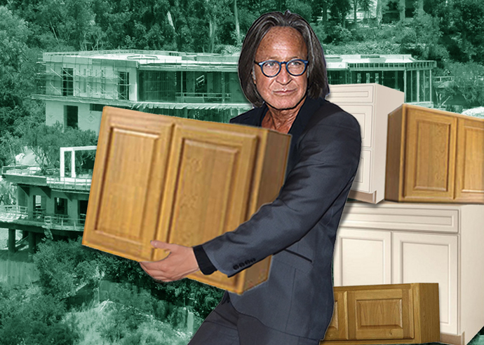 Mohamed Hadid and half-built property on Strada Vecchia (Credit: Getty Images)