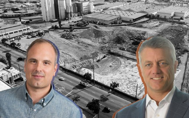 From left: Brian Wilson, and Steve Poulos with the property