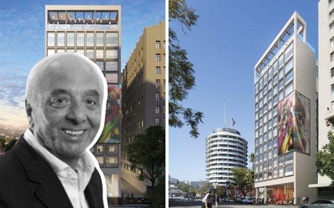 CitizenM Chairman Rattan Chadha and a rendering of the Hollywood hotel