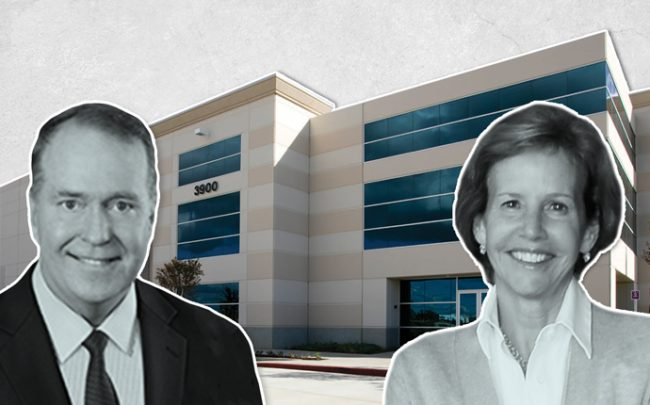 Clarion Partners CEO David Gilbert and Kenco Logistics Services Chairwoman Jane Kennedy Greene