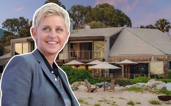 Ellen DeGeneres and the home (Credit: Getty Images)