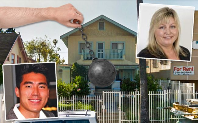 From left: Director of Realty Ryan Limb and Newport Partners founder Monique Hastings with the property (Credit: Google Maps)