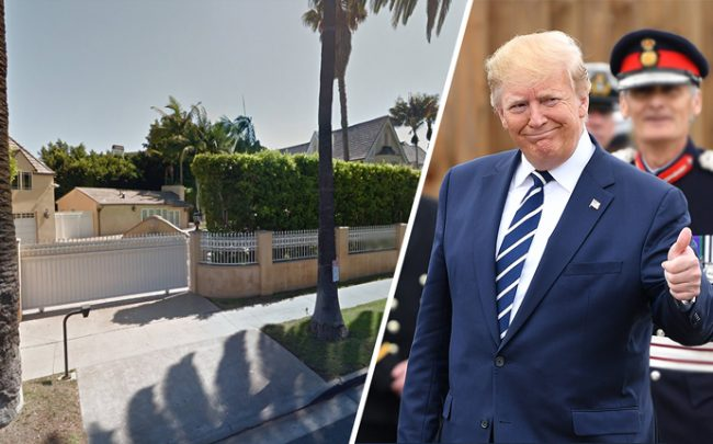 Donald Trump has sold his home in Beverly Hills (Credit: Getty Images, and Google Maps)