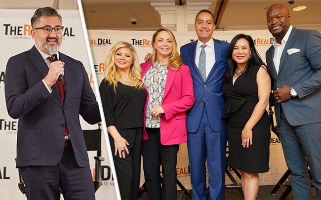 From left: Amir Korangy, Jennifer Berman, Louisette Geiss, Don Peebles, Alexandra Tieu, and Kofi Nartey at The Real Deal's residential real estate showcase on Friday (Credit: Jeff Newton)