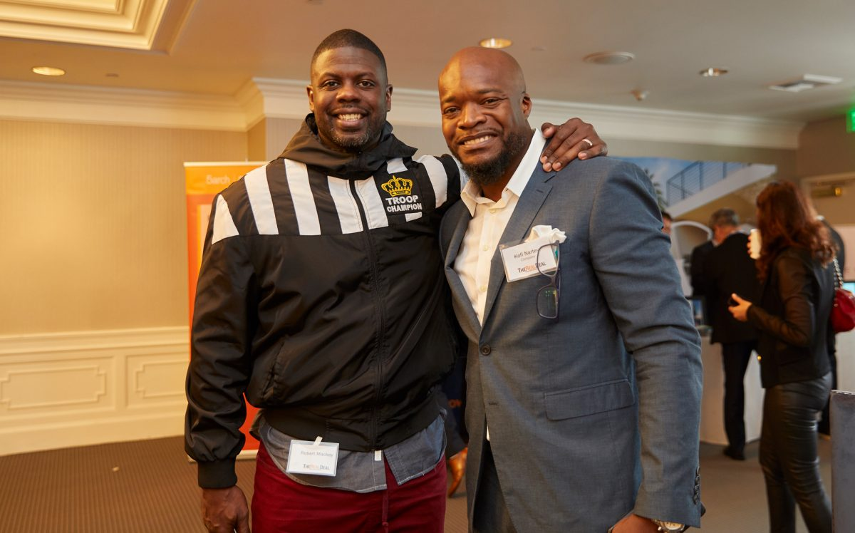 From left: Robert Mackey and Kofi Nartey (Credit: Jeff Newton)