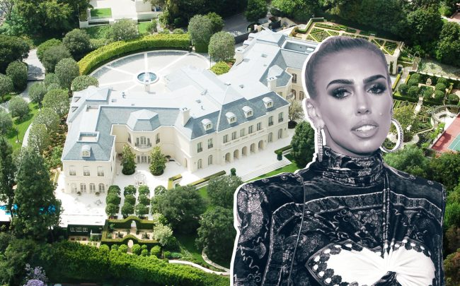 Spelling Manor in Beverly Hills with Petra Ecclestone (Credit: Wikipedia and Getty Images)