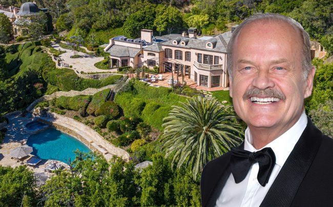 Kelsey Grammer and his former Malibu home (Credit: Getty Images and The Agency)