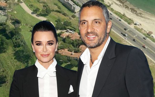 Kyle Richards, Mauricio Umansky and the Sweetwater Mesa property (Credit: Getty Images)