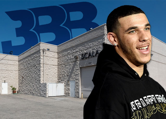 Lonzo Ball and the warehouse (Credit: Getty Images)