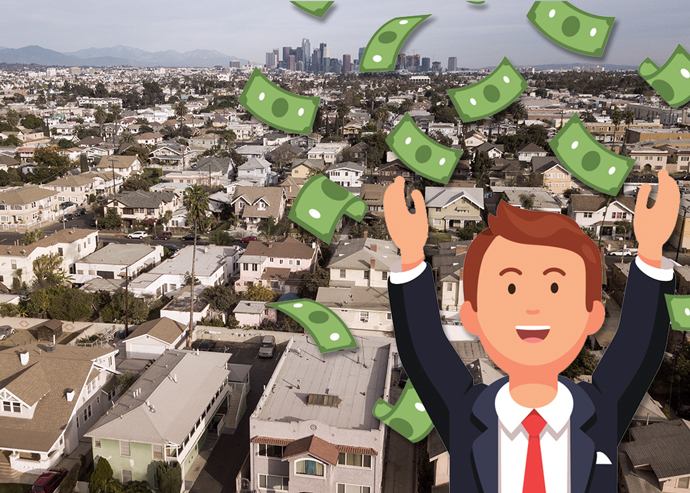 L.A. rents increased despite a national slowdown.