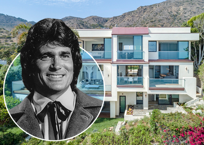 Michael Landon and the home in Malibu (Credit: Getty Images)