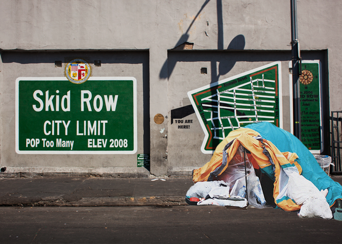 The Skid Row City Limits mural